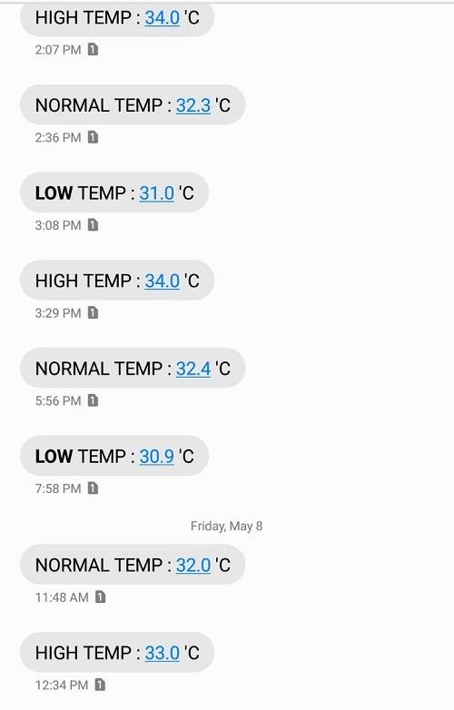 مشاهده دمای ماینر